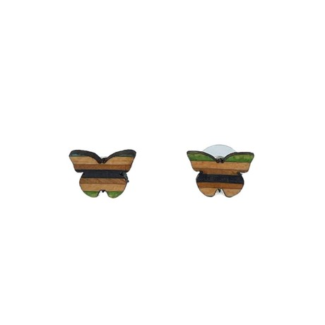 Butterfly Recycled Skateboard Stud Earrings from Paguro Upcycle