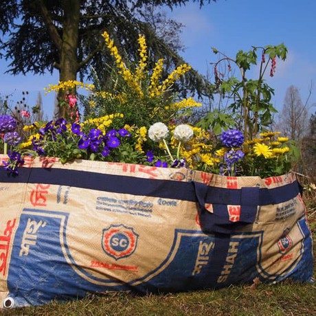 Plantbag made of recycled cement sacks | big from Tulsi Crafts