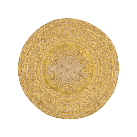 Woven Natural Straw Gold Round Placemats from Urbankissed