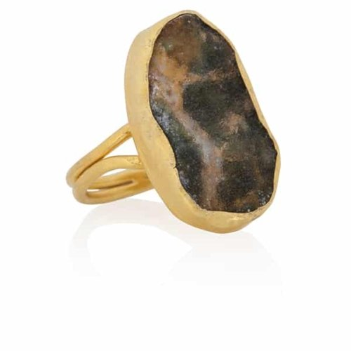 Cybele | Moss ring gold from Ana Dyla