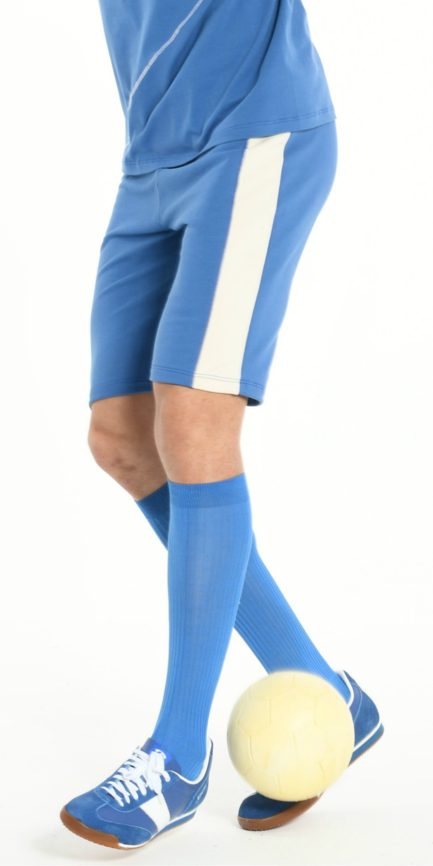 SHORT BLUE WITH OFFWHITE STRIP from BEARD & FRINGE