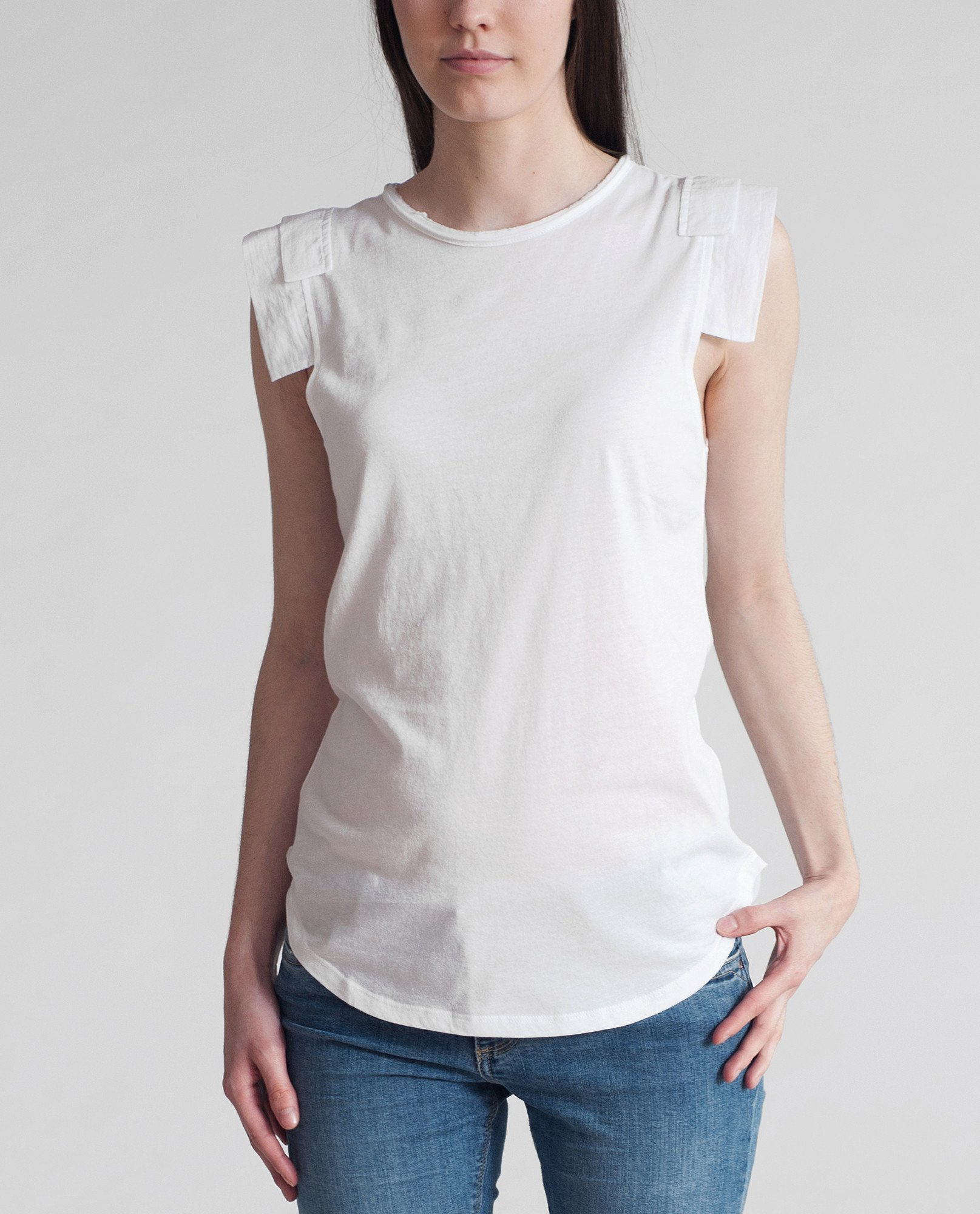 CHARITY Organic Cotton Top In White from Beaumont Organic