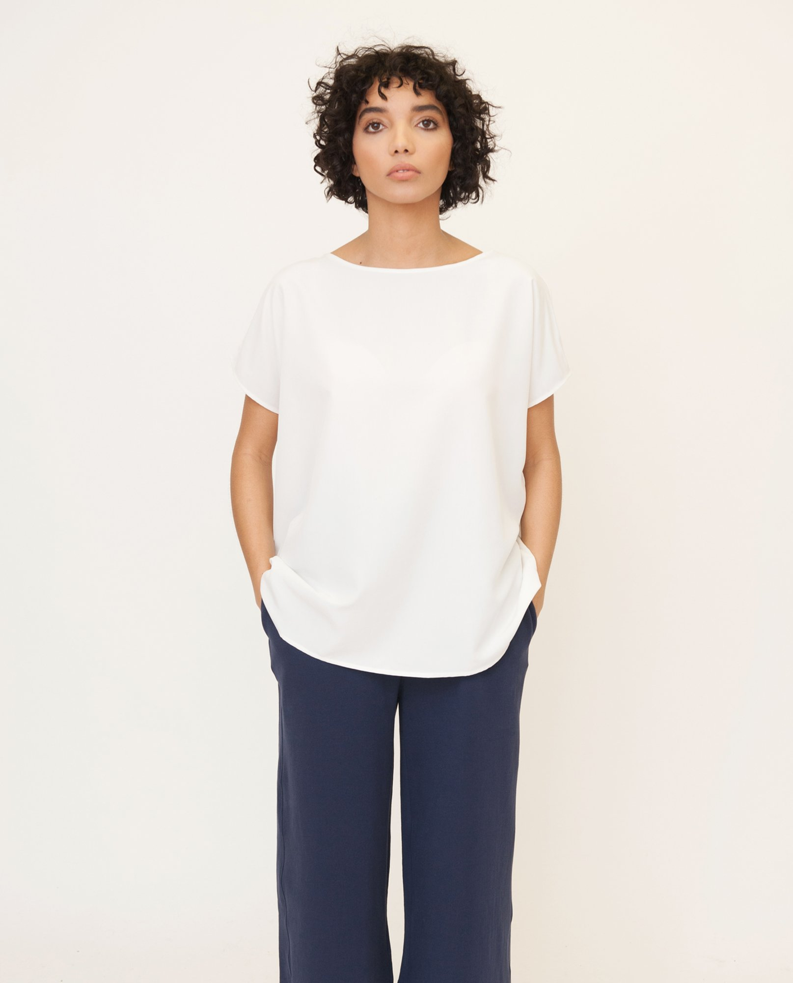 ALINE Modal Top In Off White from Beaumont Organic