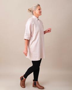 TILLIE-ANN Organic Cotton Tunic In Light Rose from Beaumont Organic