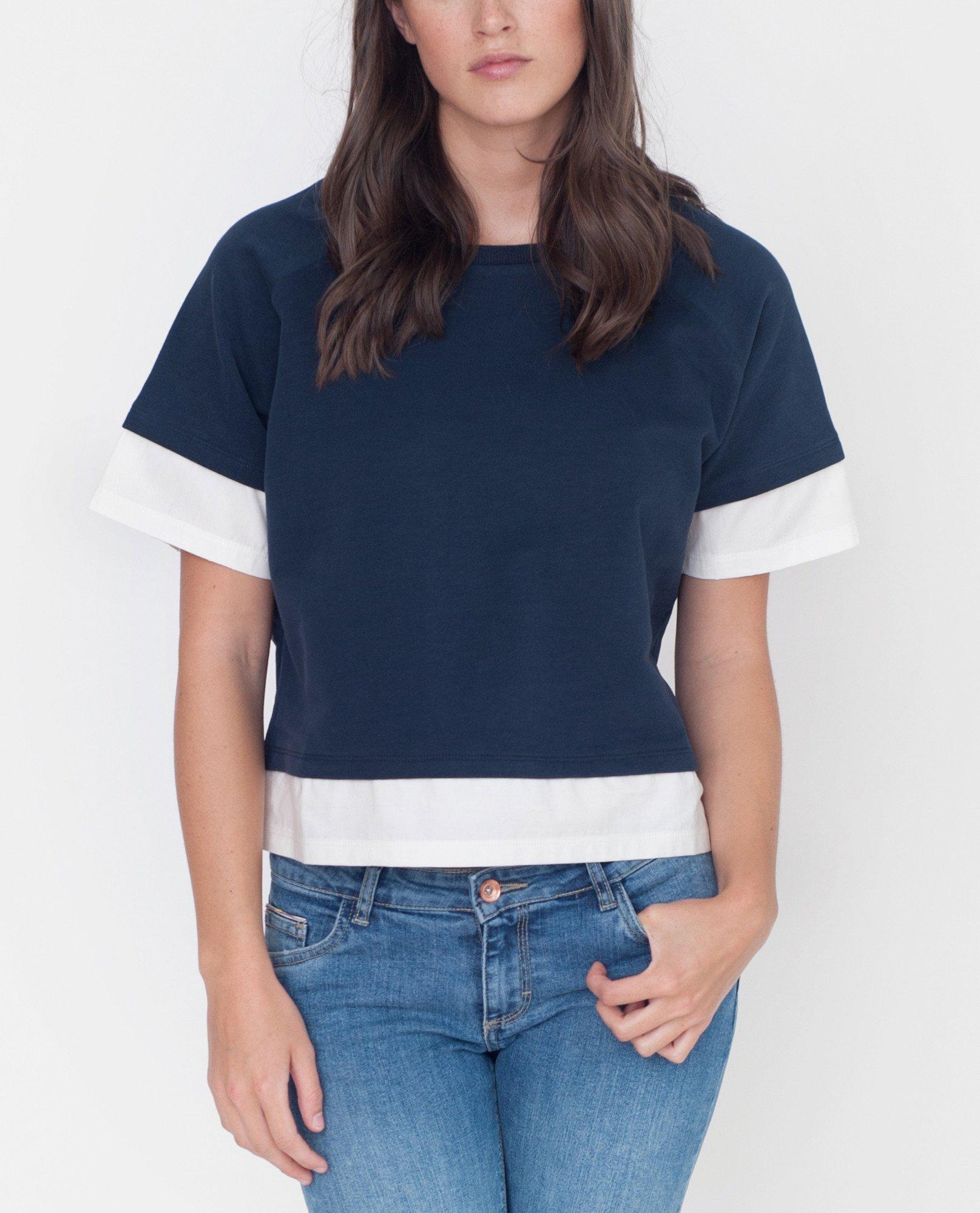 LAURA Organic Cotton Sweatshirt In Navy from Beaumont Organic