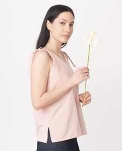 MAGGIE Organic Cotton Top In Coral from Beaumont Organic