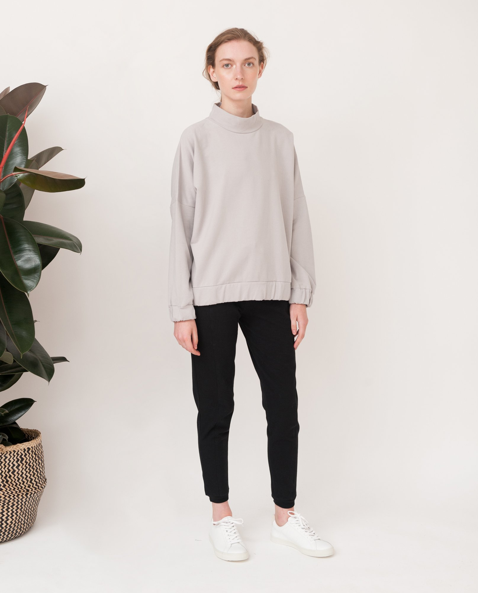 JORDAN Organic Cotton Sweatshirt In Flint from Beaumont Organic