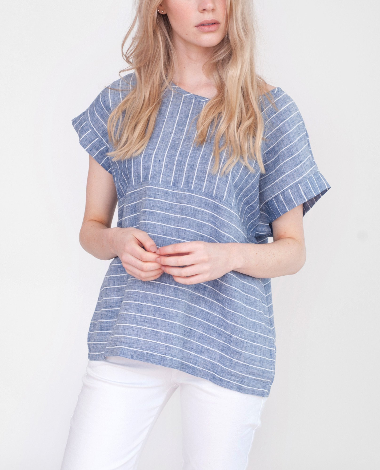 FIONA Linen Striped Top from Beaumont Organic