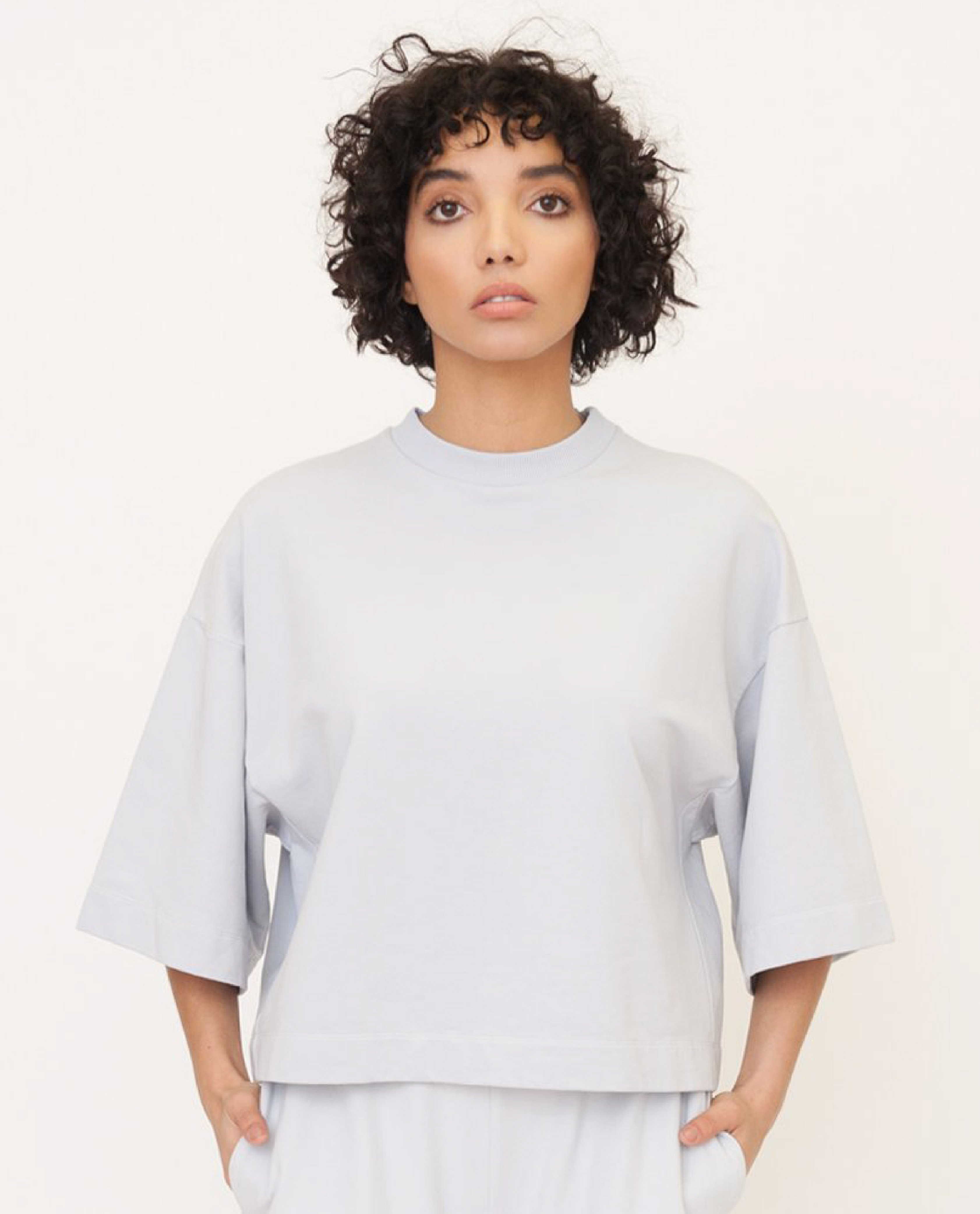 RILEY Organic Cotton Top In Grey from Beaumont Organic