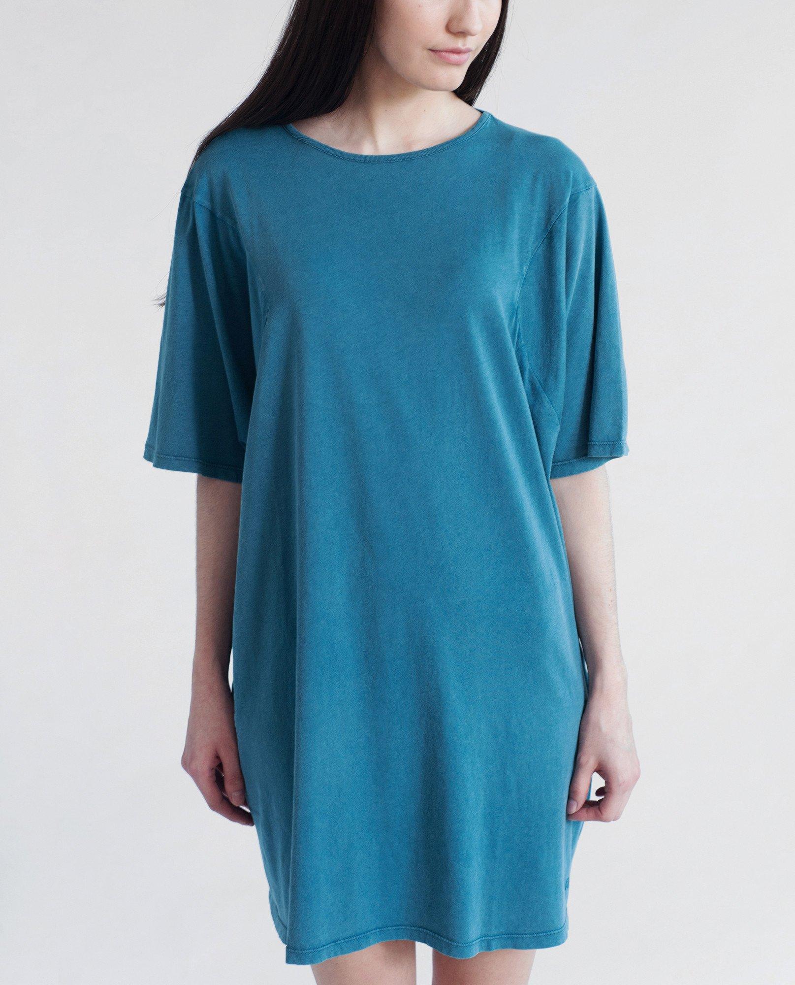 DAISY Organic Cotton Tshirt In Denim Blue from Beaumont Organic