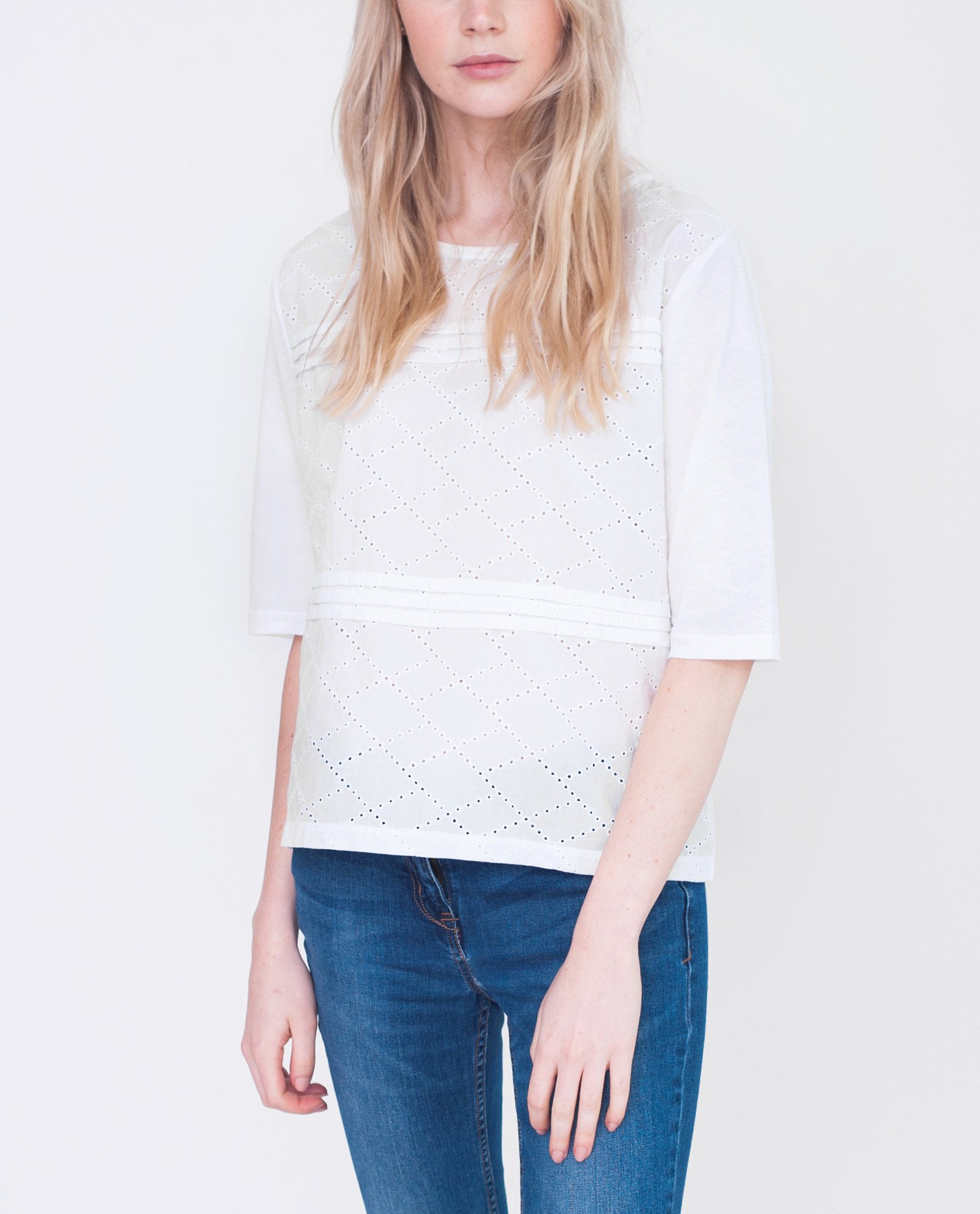 EMILIA Cotton Embroidered Blouse from Beaumont Organic