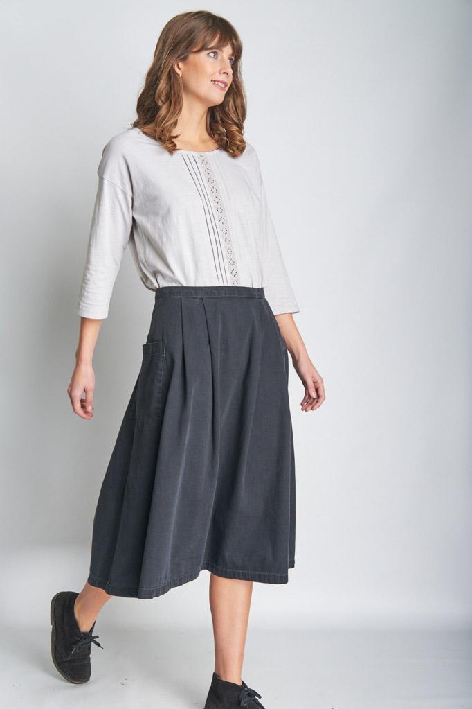 Katie Midi Denim Skirt from BIBICO