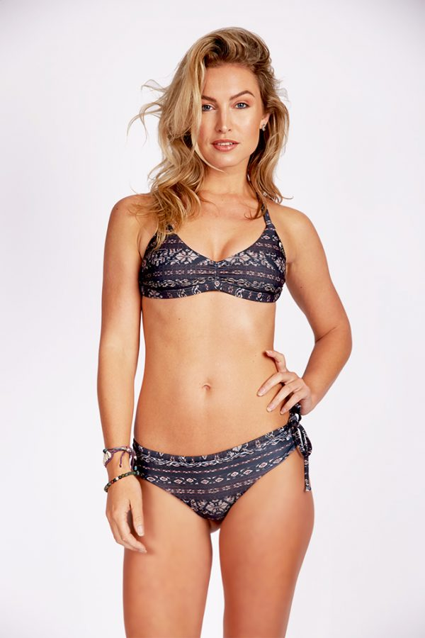 NEW! Recycled   Bralette Top   Classic Bottom   BLACK from CURMS
