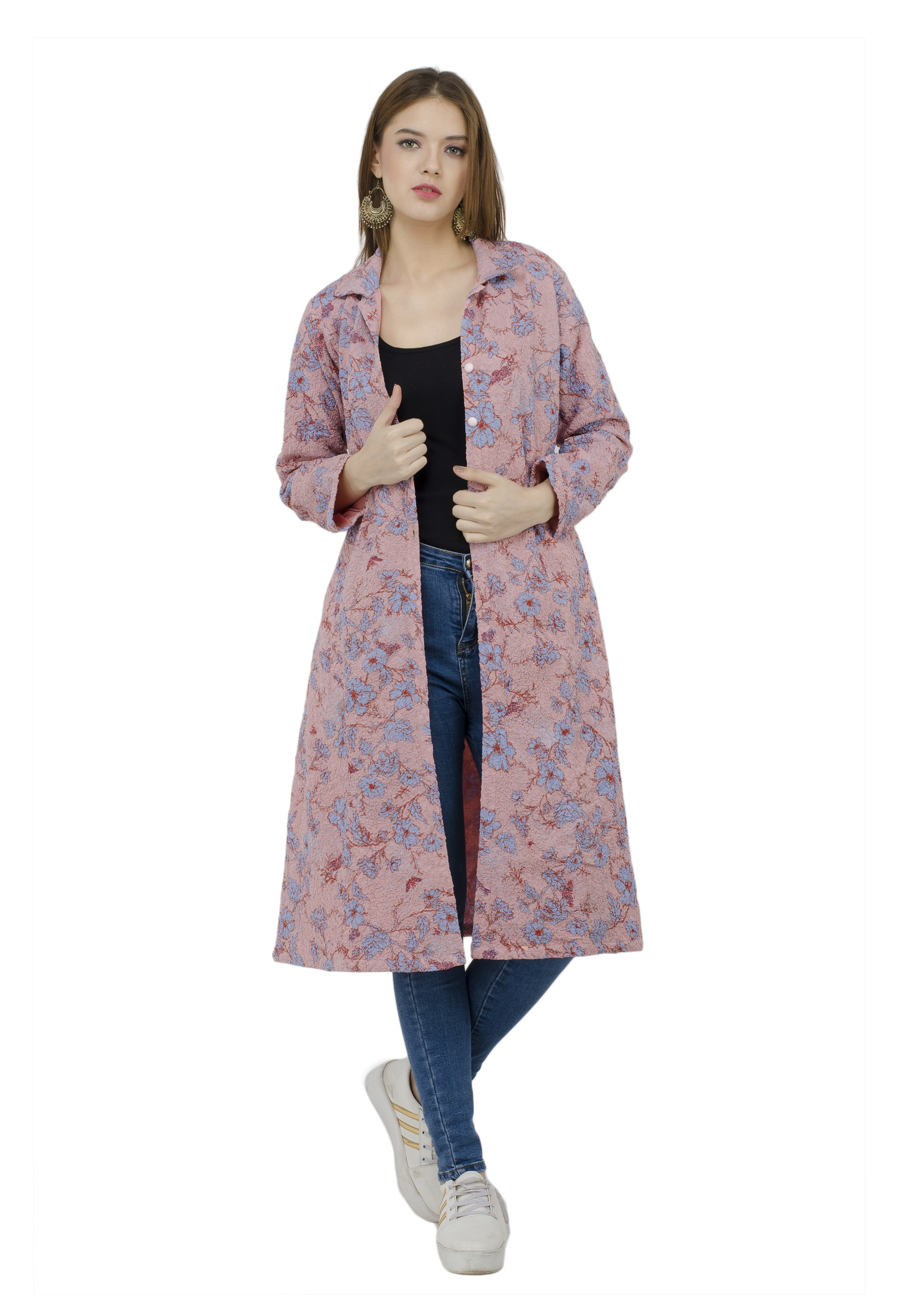 Floral Light Pink Jacket Dress from Grab Your Garb