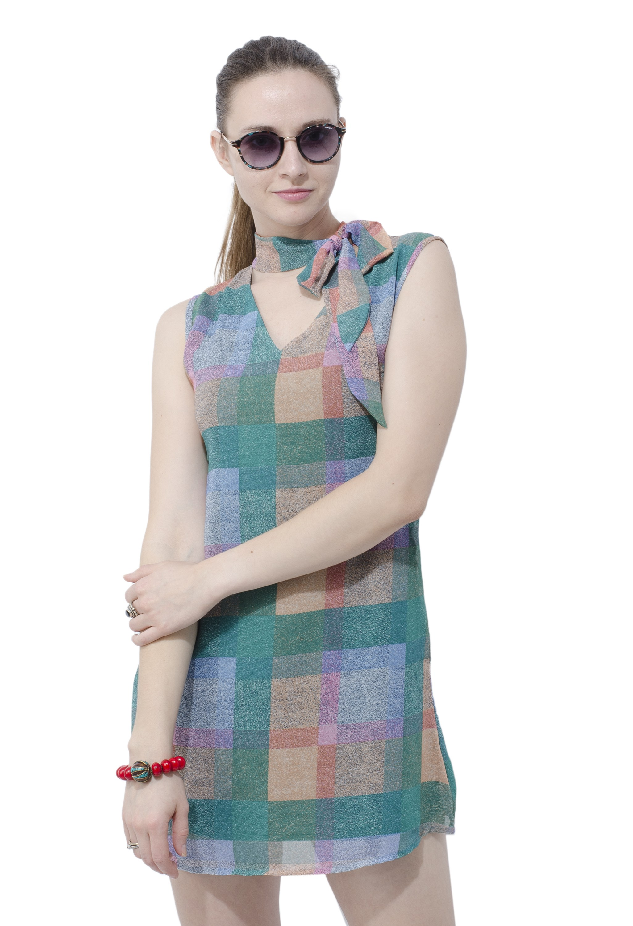 Retro dress with a neck tie from Grab Your Garb