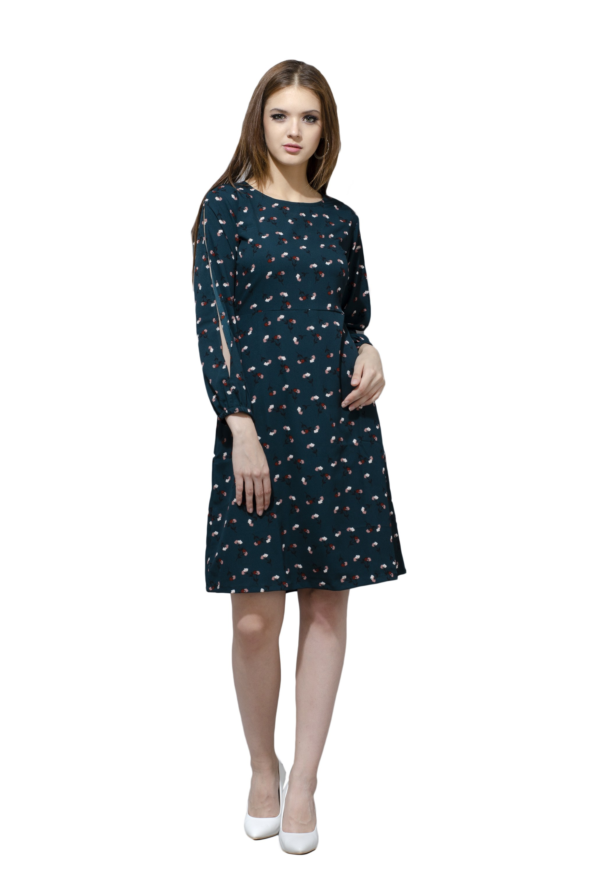 Green Full Sleeved Dress from Grab Your Garb