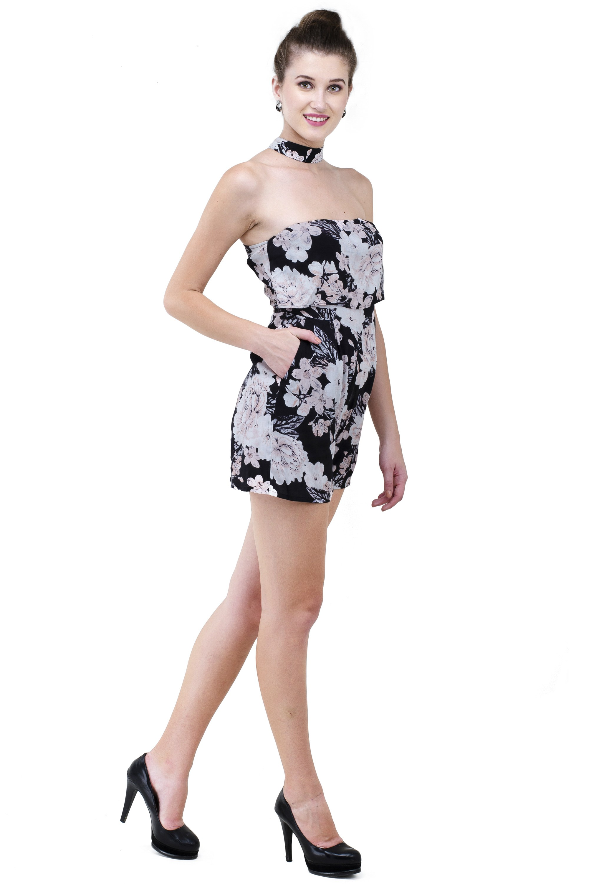 Floral jump suit with pockets from Grab Your Garb