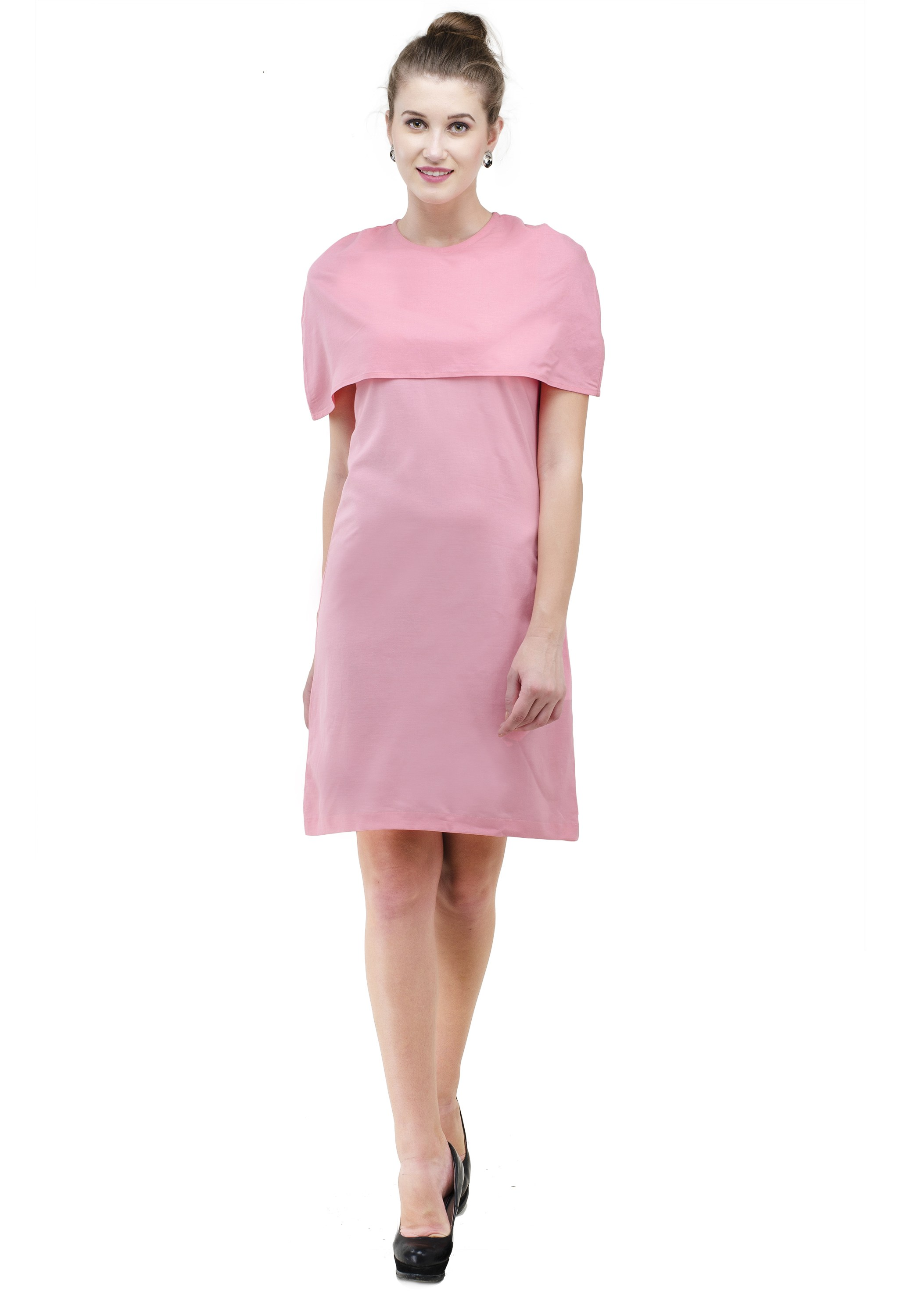 Pink dress with warm shoulders from Grab Your Garb