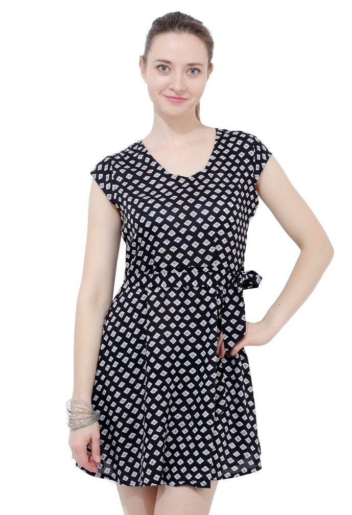 Short black dress with side tie from Grab Your Garb