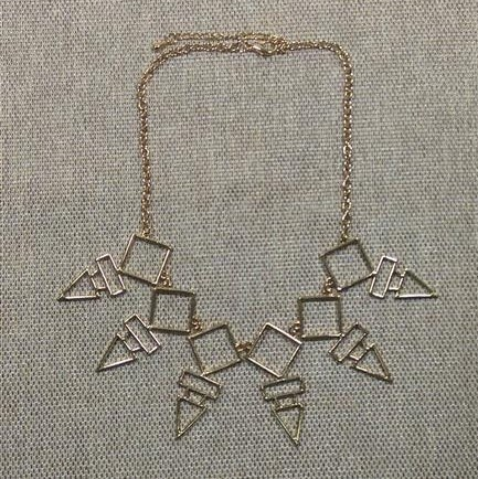 Grab Your Gold Geometric Necklace from Grab Your Garb