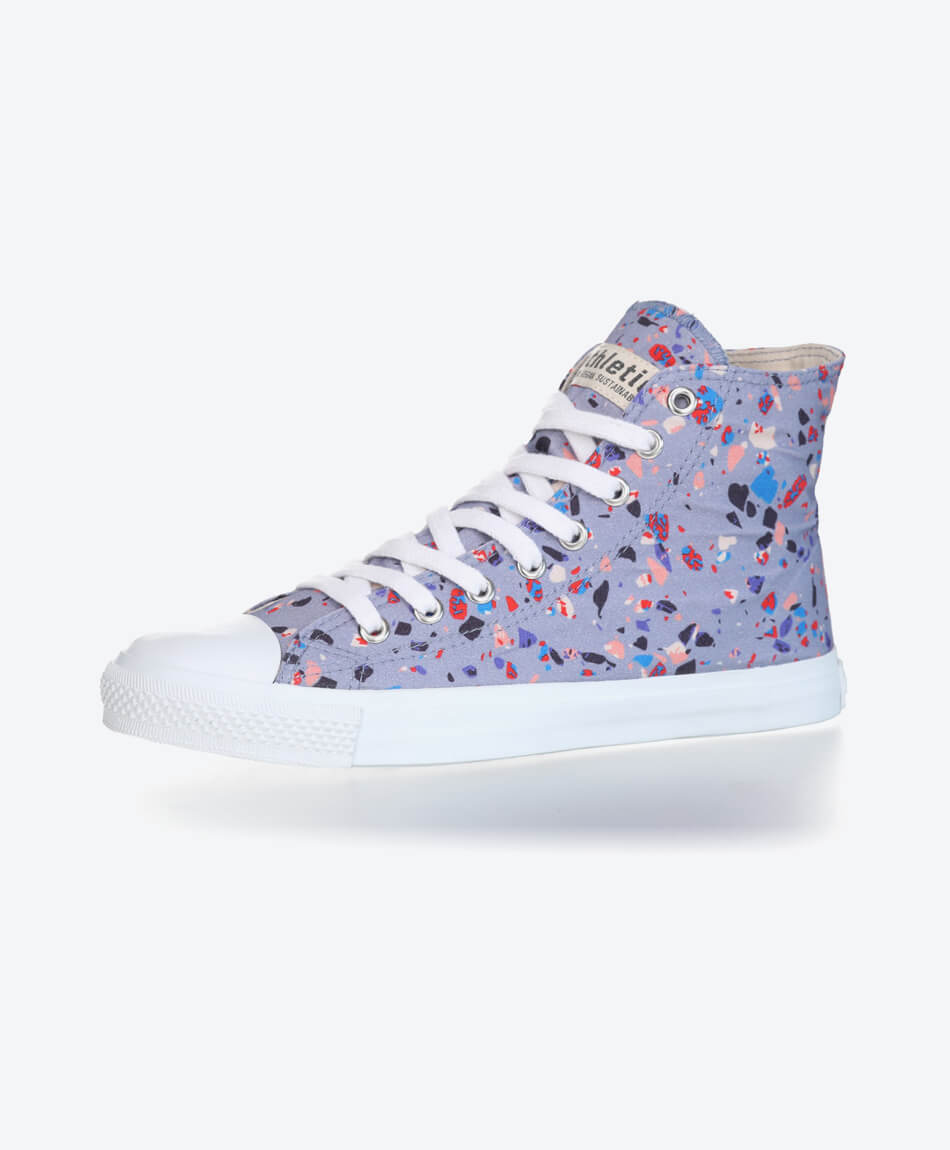 Fair Trainer Hi Cut Collection 18 Terrazzo Blueberry from Honestfashion Store