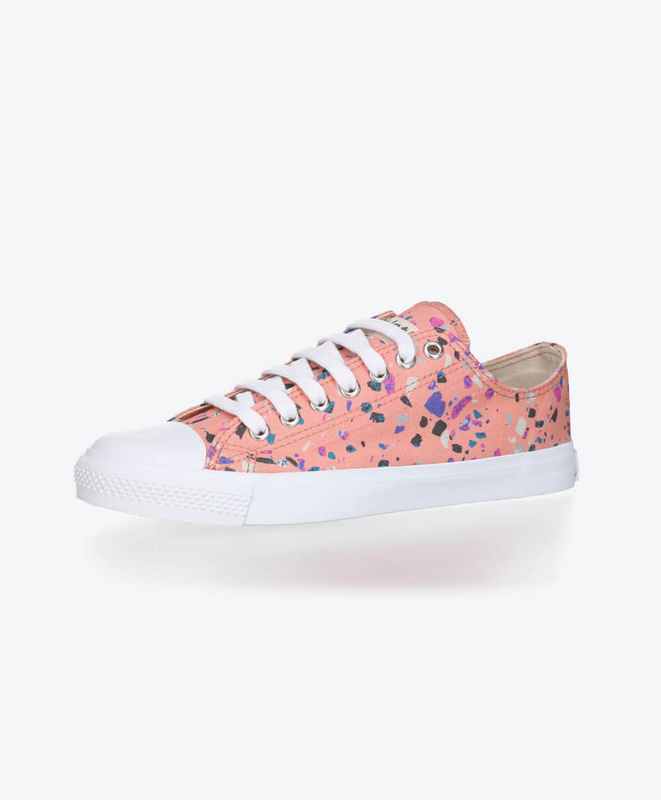 Fair Trainer White Cap Lo Cut Collection 18 Terrazzo Rose from Honestfashion Store