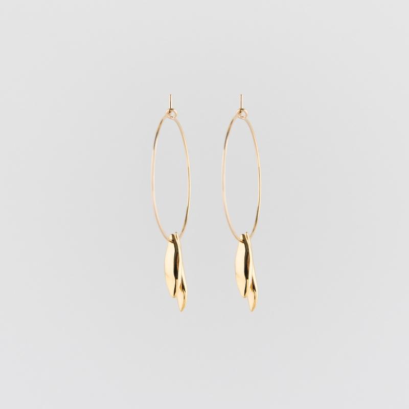 Flowerbeans large creole earrings gold SALE from Julia Otilia