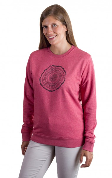 Fairwear Organic Sweater Women Treeslice Cranberry from Life-Tree
