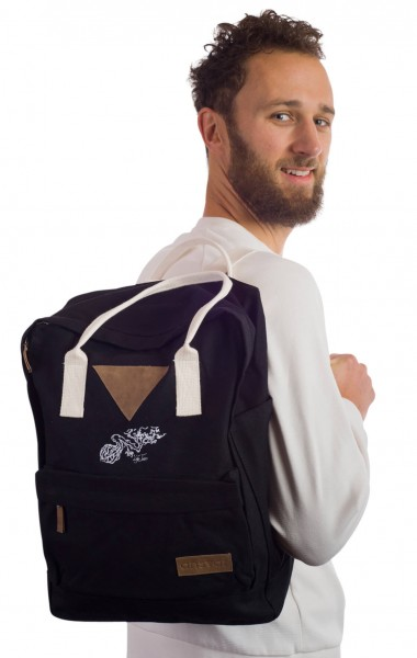 Life-Tree Fairtrade Backpack II Black from Life-Tree