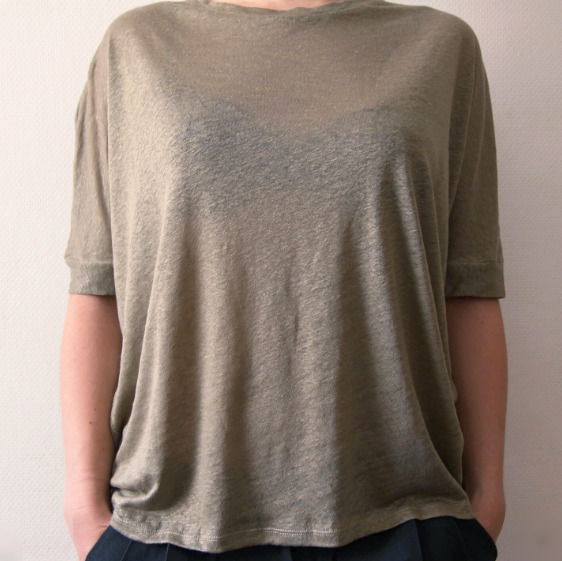 Green Ethical Linen Top from Mae Sue