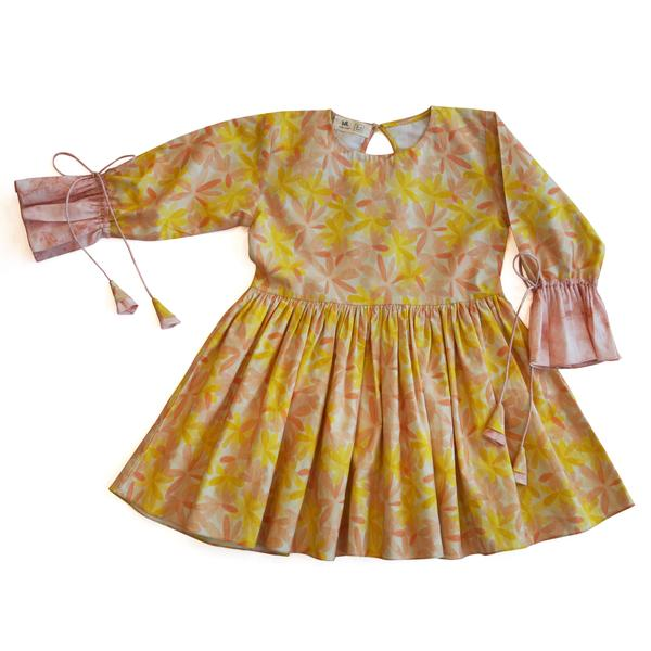 Apricot Blooms Gathered Dress from Miko LOLO