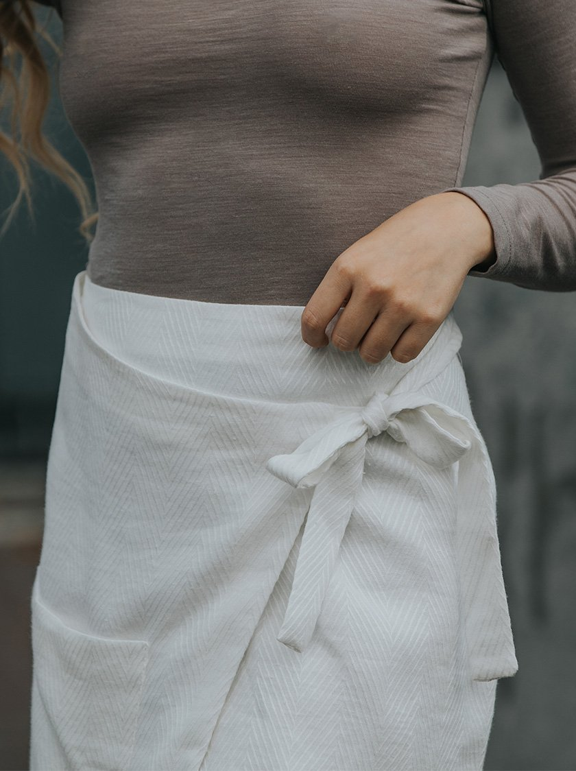 Wrapped Pocket Skirt from Noumenon