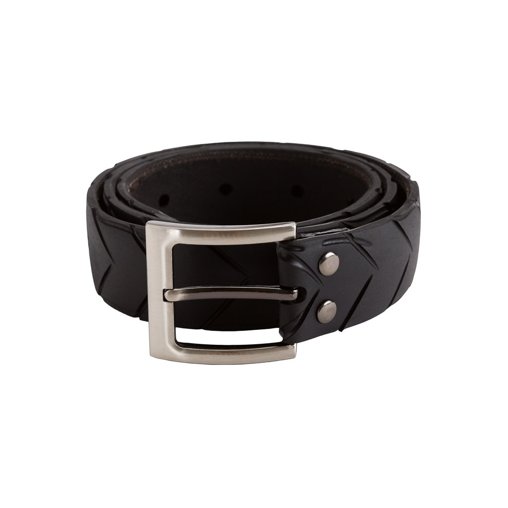 Recycled Rubber Motorbike Tyre Vegan Belt from Paguro Upcycle