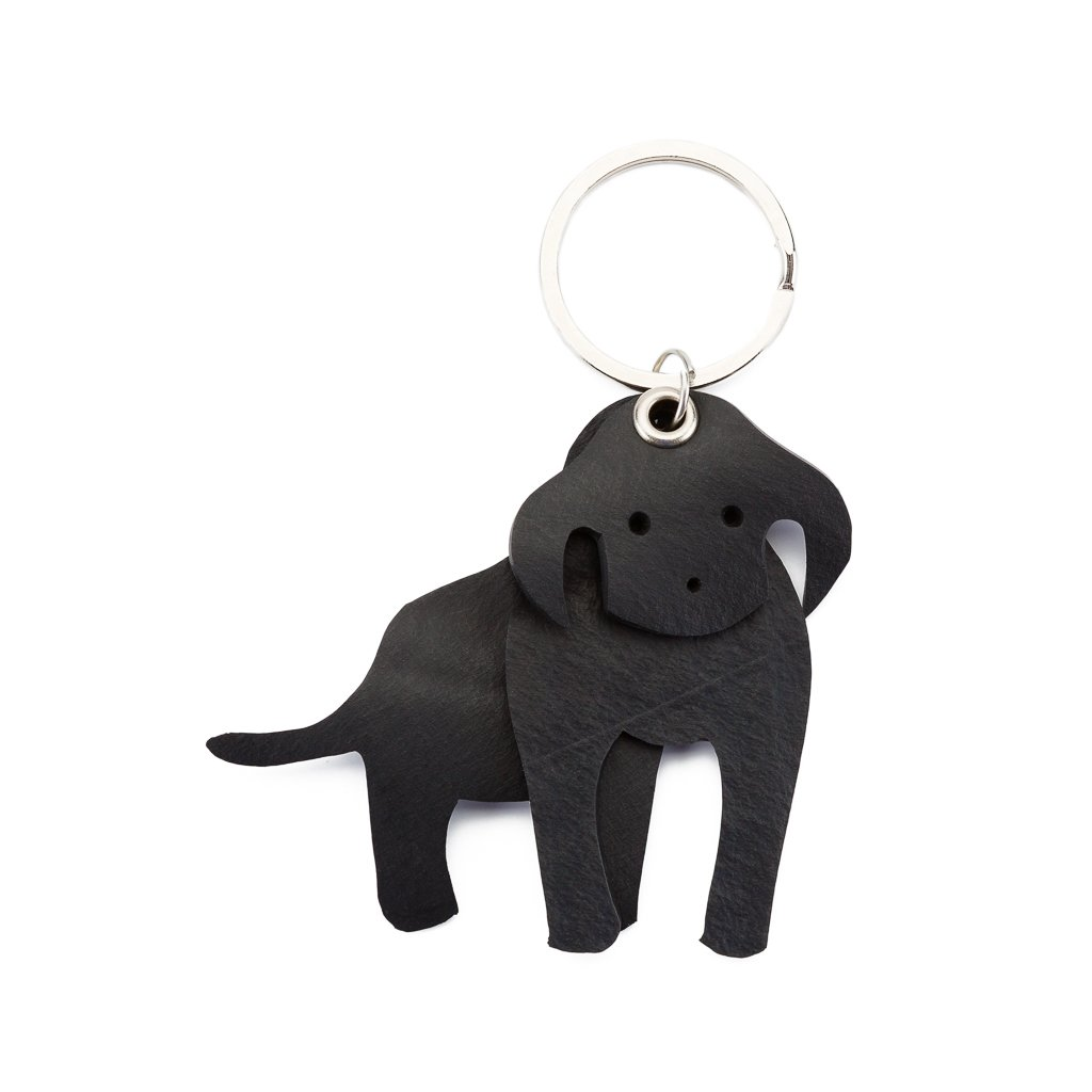 Milo 3D Charming Rubber Dog Vegan Keyring from Paguro Upcycle
