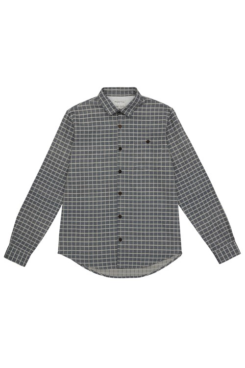 James Check Shirt in Navy check from People Tree