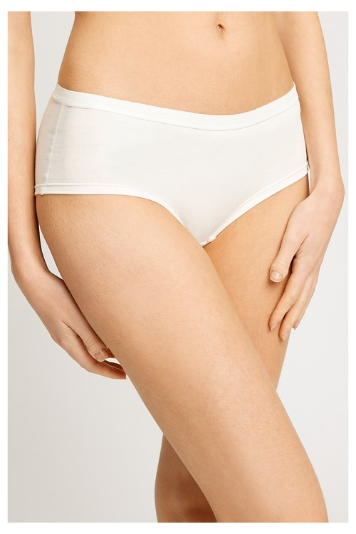 Low Rise Shorts in White from People Tree