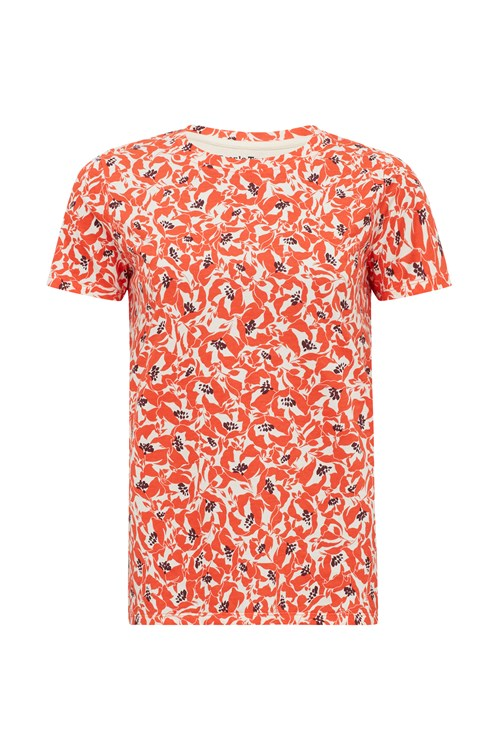 Floral Orange Print Tee from People Tree