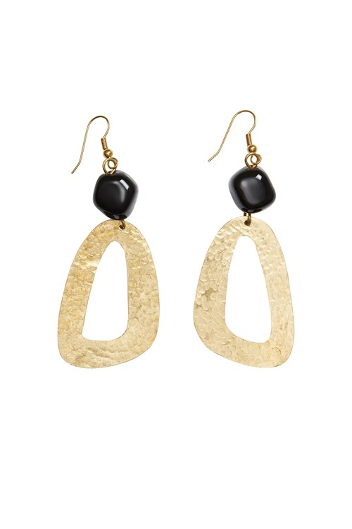 Bead and Shape Earrings in Brass from People Tree