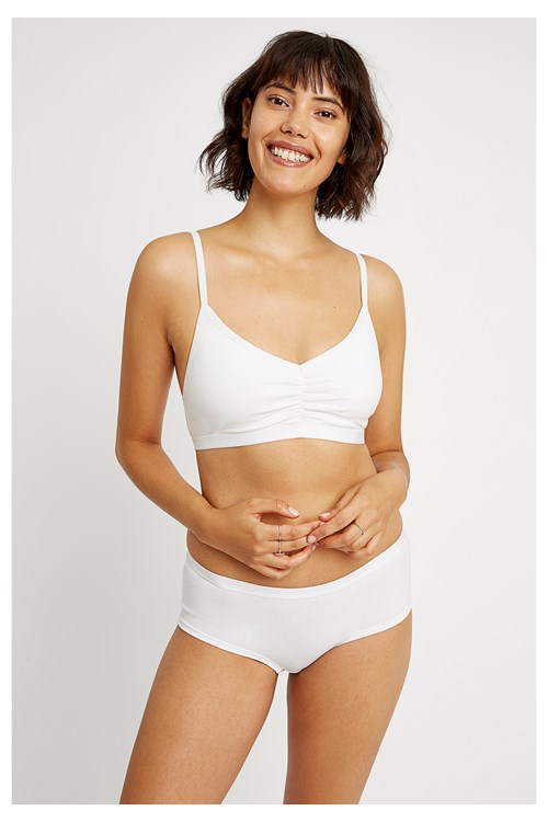 Soft Bra Top in White from People Tree