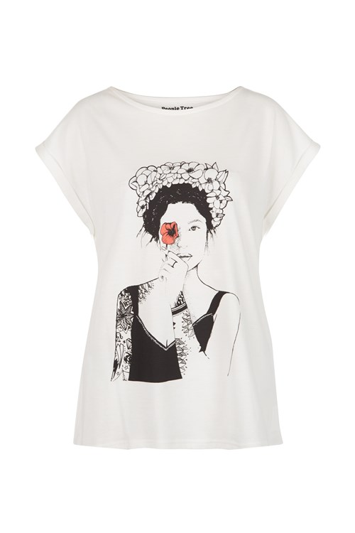 Summer Girl Tee in White from People Tree