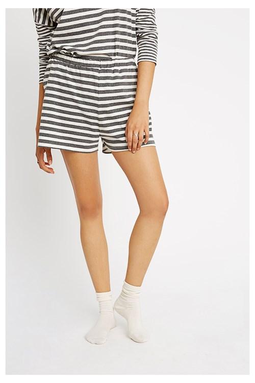Stripe Grey Pyjama Shorts from People Tree