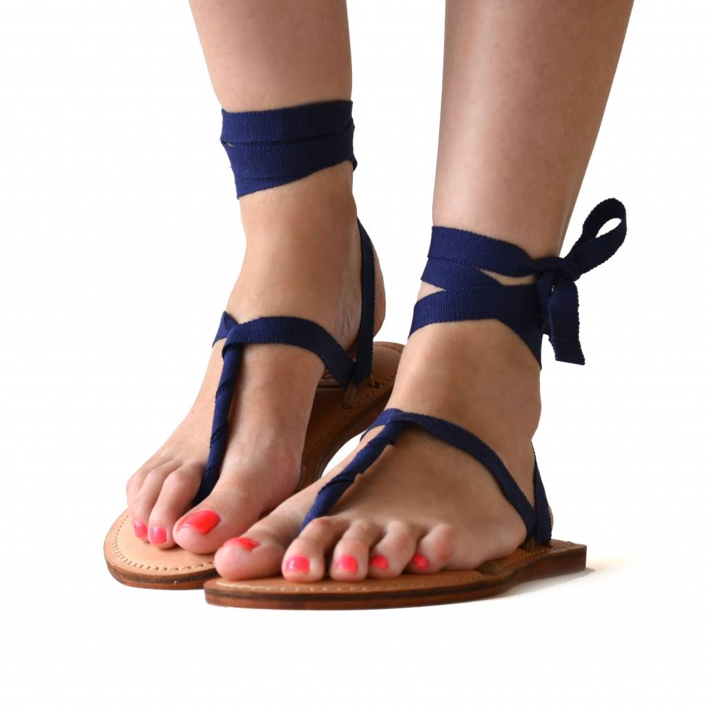 Sandals dark blue from Quetzal Artisan