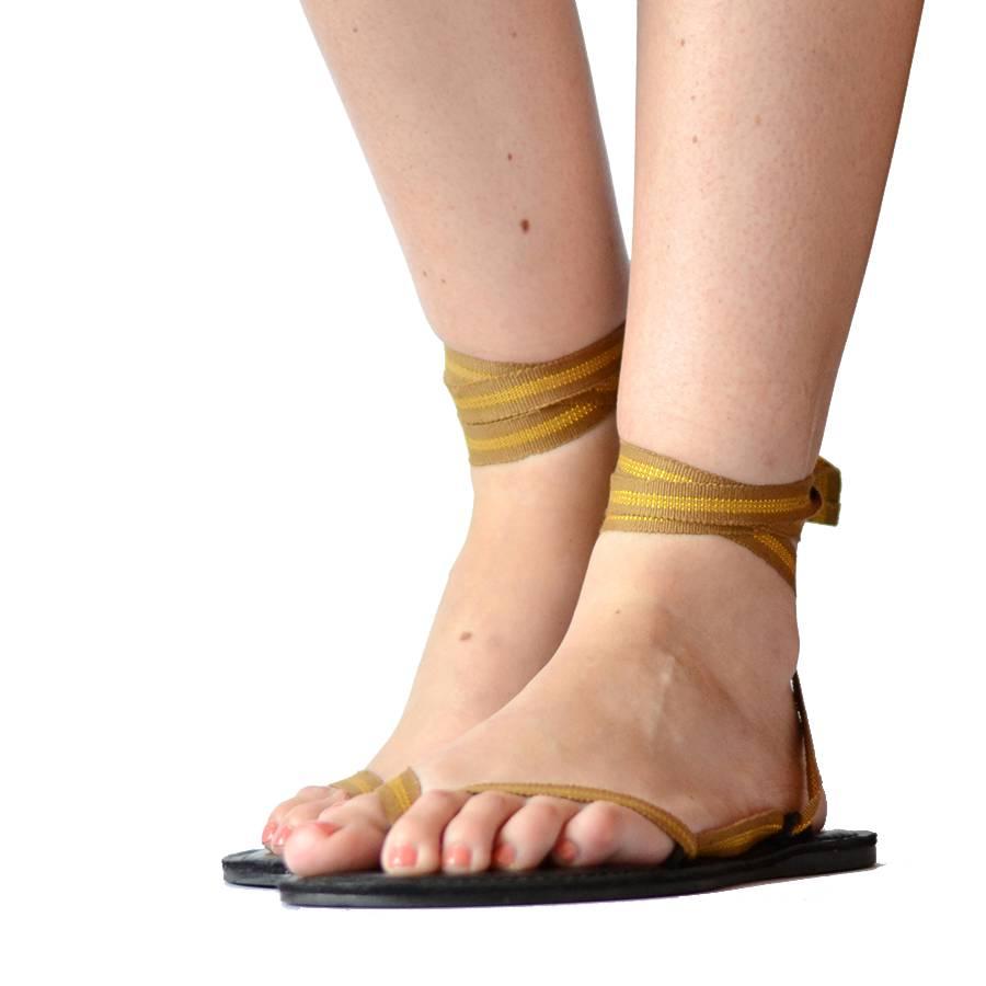 Sandals golden line from Quetzal Artisan