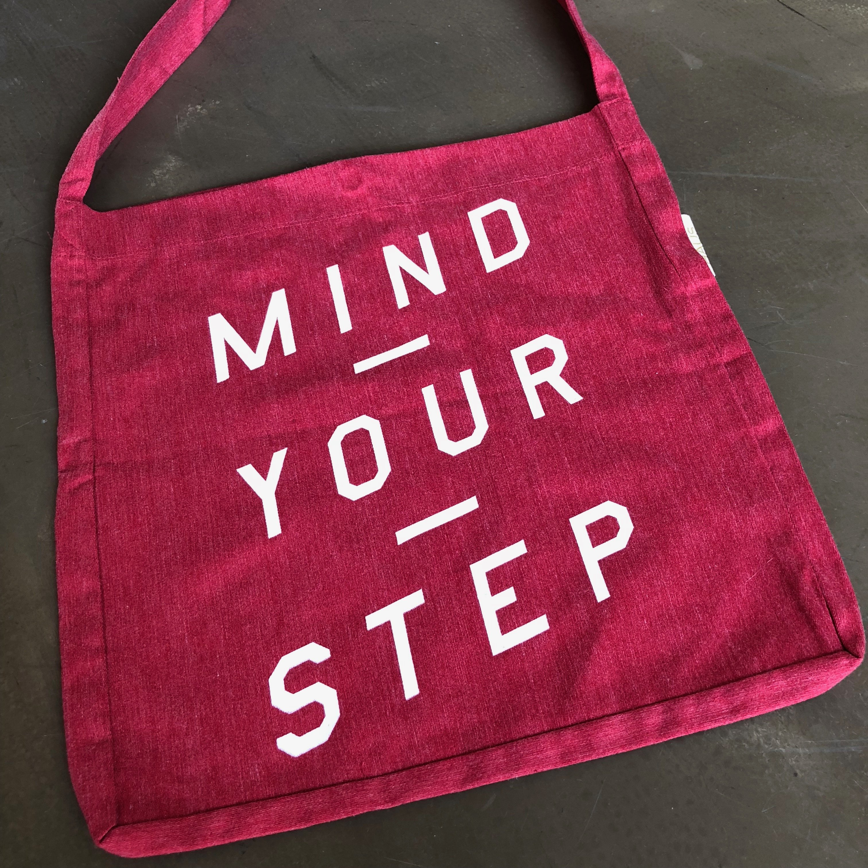 Unisex TOTE BAG, Mind Your Step from RITTRSHAUS