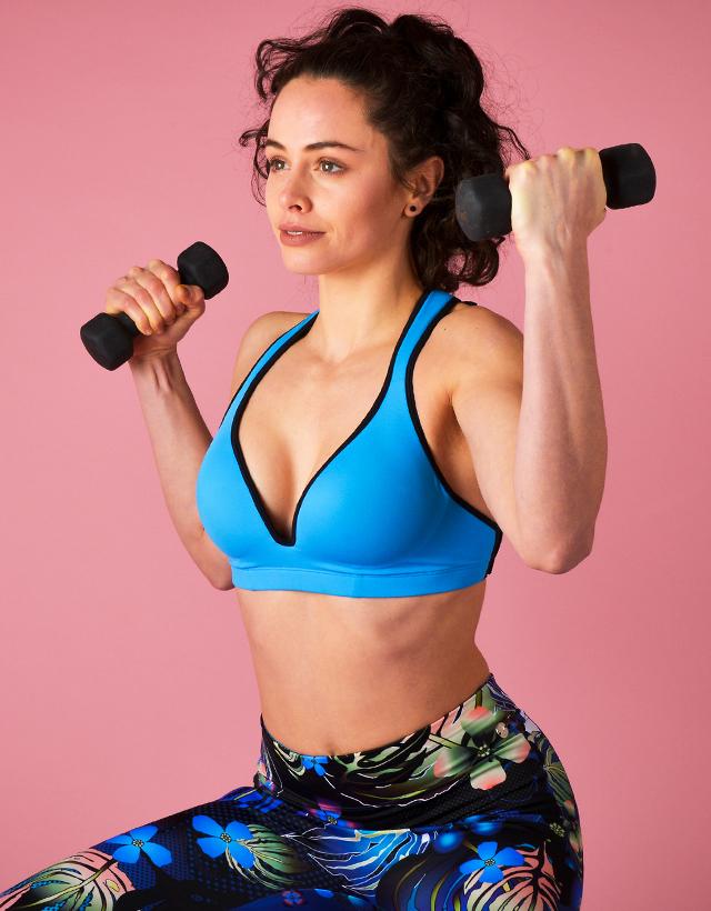 Blue Sports Bra Leilani – Gym To Swim® from RubyMoon