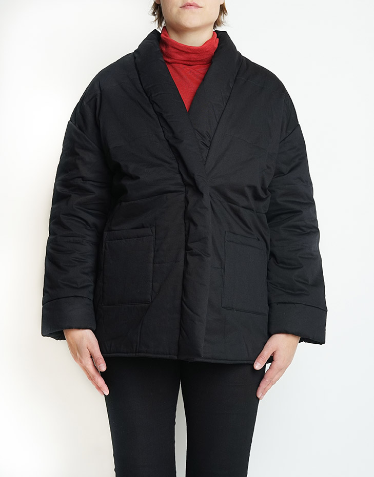 black padded jacket from Silfir