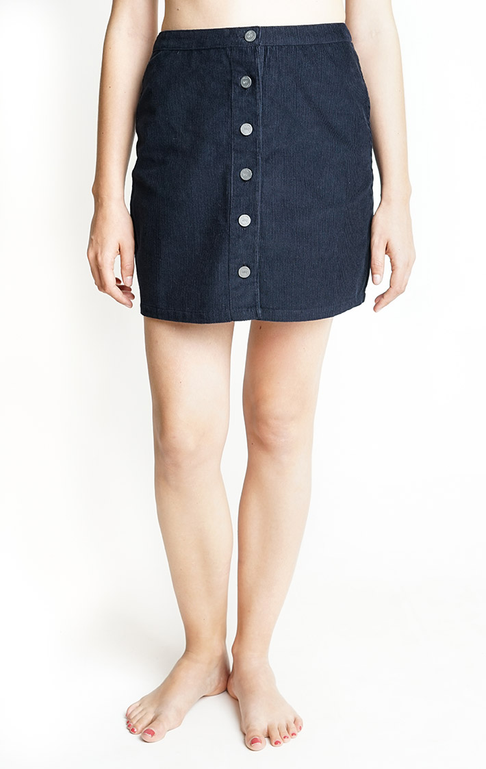 dark blue cord skirt /medium only from Silfir