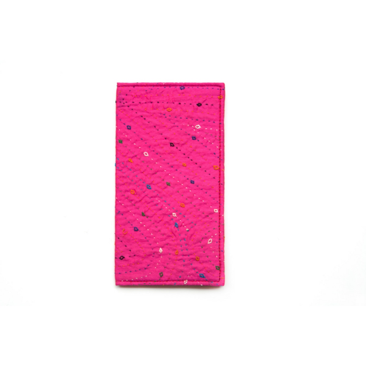Pink Hand Embroidered Wallet from Siyana London