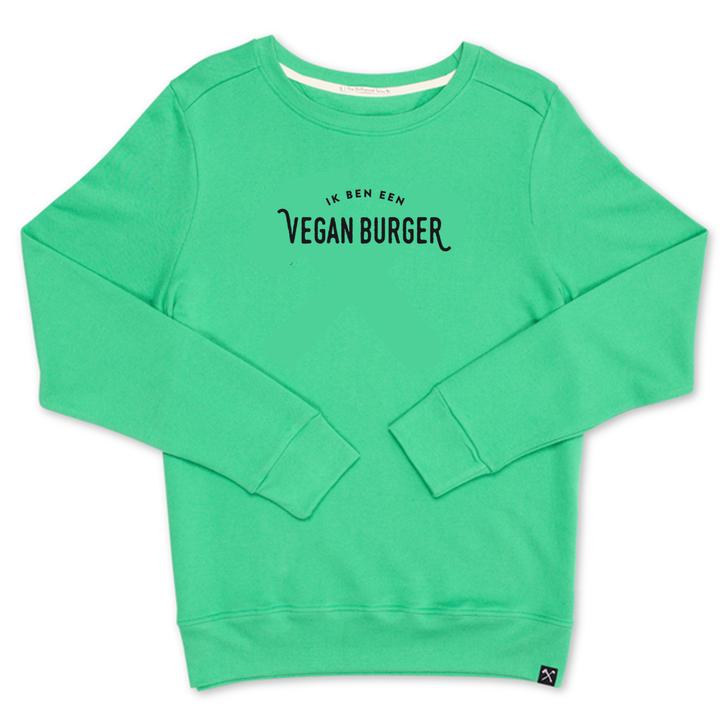 VEGAN BURGER - NAVY & GREEN UNISEX SWEAT from The Driftwood Tales