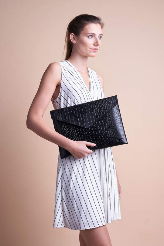 """Envelope laptop sleeve 13"""" - eco classic black from thegreenlabels.com"""